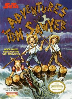 Box artwork for Adventures of Tom Sawyer.