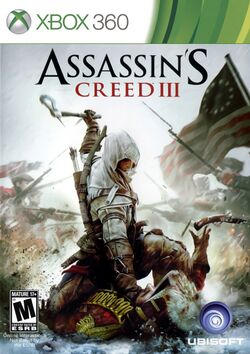Box artwork for Assassin's Creed III.