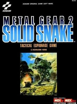 Box artwork for Metal Gear 2: Solid Snake.