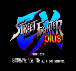 Box artwork for Street Fighter EX Plus.