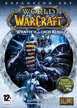 Box artwork for World of Warcraft: Wrath of the Lich King.