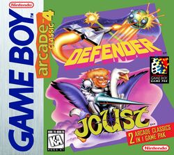 Box artwork for Arcade Classic No. 4: Defender / Joust.
