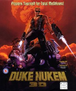 Box artwork for Duke Nukem 3D.