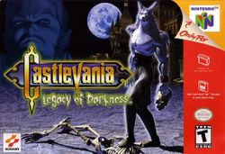 Box artwork for Castlevania: Legacy of Darkness.