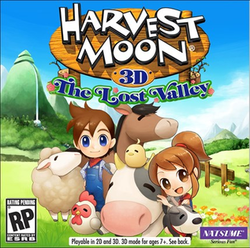 Box artwork for Harvest Moon: The Lost Valley.