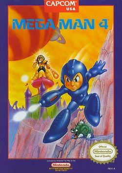 Box artwork for Mega Man 4.