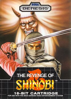 Box artwork for The Revenge of Shinobi.