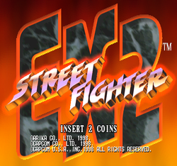 Box artwork for Street Fighter EX 2.