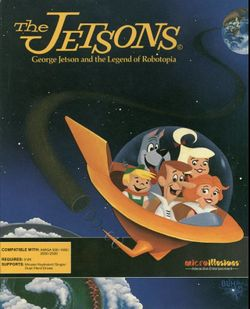 Box artwork for The Jetsons: George Jetson and the Legend of Robotopia.