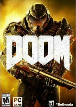 Box artwork for Doom (2016).