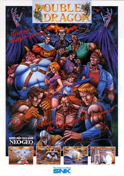 Box artwork for Double Dragon (Neo Geo).