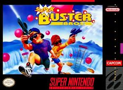 Box artwork for Super Buster Bros..