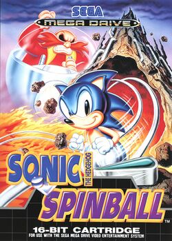 Box artwork for Sonic the Hedgehog Spinball.