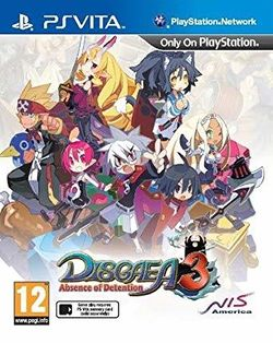 Box artwork for Disgaea 3: Absence of Detention.