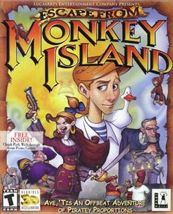 Box artwork for Escape from Monkey Island.