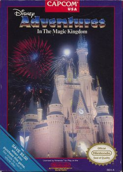 Box artwork for Adventures in the Magic Kingdom.