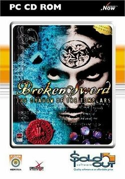 Box artwork for Broken Sword: The Shadow of the Templars.