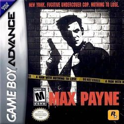 Box artwork for Max Payne (Game Boy Advance).