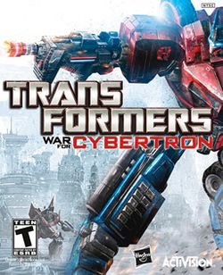 Box artwork for Transformers: War for Cybertron.