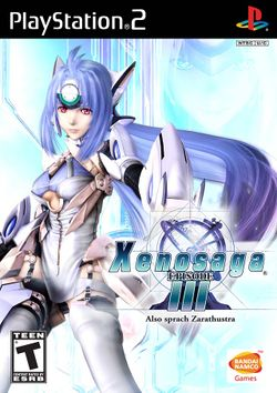 Box artwork for Xenosaga Episode III: Also sprach Zarathustra.