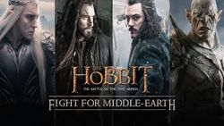 Box artwork for The Hobbit: Battle of the Five Armies - Fight for Middle-earth.