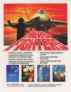 Box artwork for Aero Fighters.