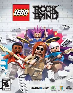 Box artwork for LEGO Rock Band.