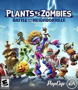 Box artwork for Plants vs. Zombies: Battle for Neighborville.