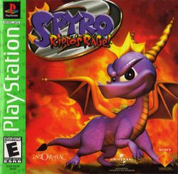 Box artwork for Spyro 2: Ripto's Rage!.
