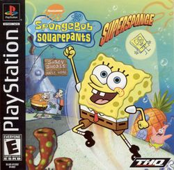 Box artwork for SpongeBob SquarePants: SuperSponge.