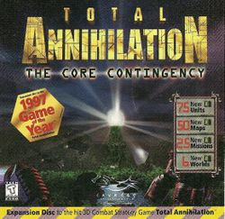 Box artwork for Total Annihilation: The Core Contingency.