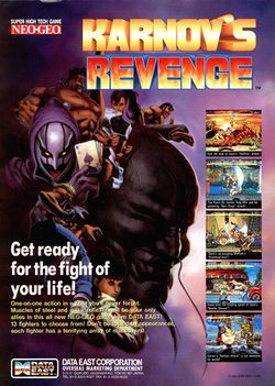 Box artwork for Karnov's Revenge.