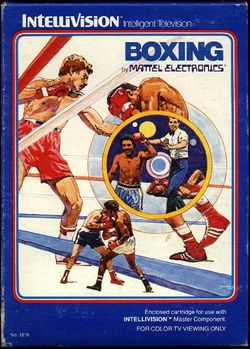 Box artwork for Boxing (Intellivision).