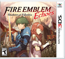 Box artwork for Fire Emblem Echoes: Shadows of Valentia.