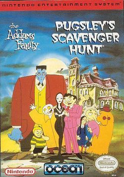 Box artwork for The Addams Family: Pugsley's Scavenger Hunt.