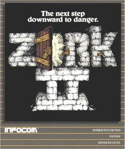 Box artwork for Zork II: The Wizard of Frobozz.