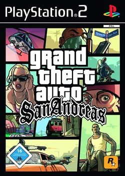 Box artwork for Grand Theft Auto: San Andreas.