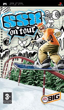 Box artwork for SSX on Tour.
