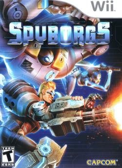 Box artwork for Spyborgs.