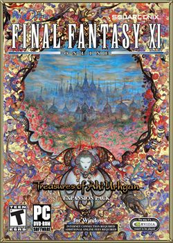 Box artwork for Final Fantasy XI: Treasures of Aht Urhgan.