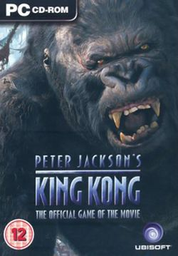 Box artwork for Peter Jackson's King Kong: The Official Game of the Movie.
