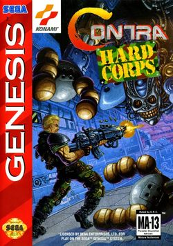 Box artwork for Contra: Hard Corps.
