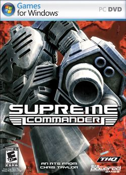 Box artwork for Supreme Commander.