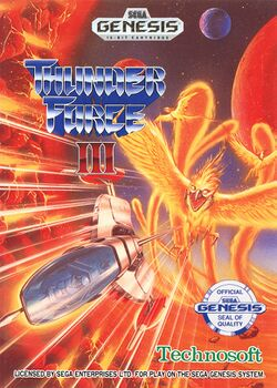 Box artwork for Thunder Force III.