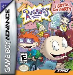 Box artwork for Rugrats: I Gotta Go Party.