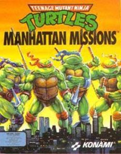 Box artwork for Teenage Mutant Ninja Turtles: Manhattan Missions.