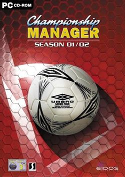 Box artwork for Championship Manager: Season 01/02.