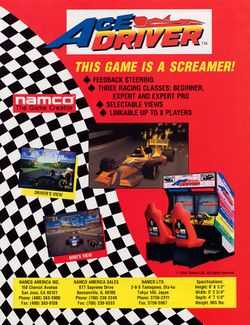 Box artwork for Ace Driver.