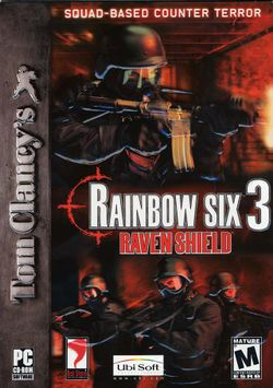 Box artwork for Tom Clancy's Rainbow Six 3: Raven Shield.