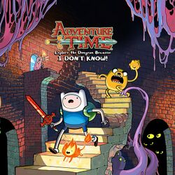 Box artwork for Adventure Time: Explore the Dungeon Because I Don't Know!.
